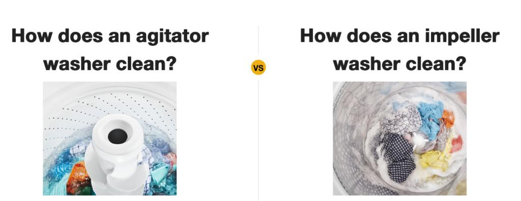 agitator vs impller washing machine