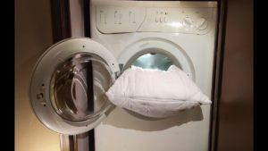 Pillow in washing machine