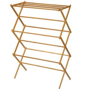 Household Essentials 6524 Tall Indoor Folding Wooden clothes drying rack-best clothes drying rack